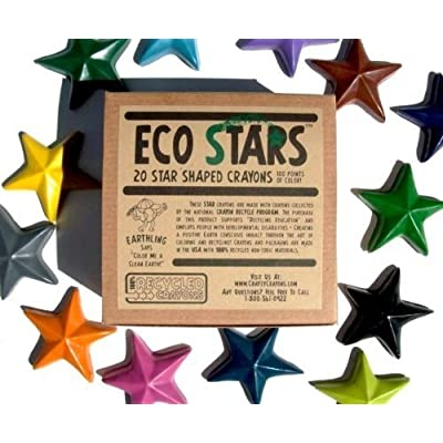 Crazy Crayons Eco Stars (100% Recycled Crayons): Toys & Games