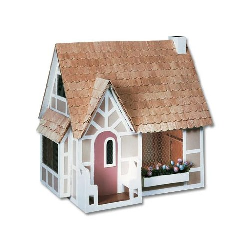 Dollhouse Miniature The Sugarplum Cottage Dollhouse by Greenleaf