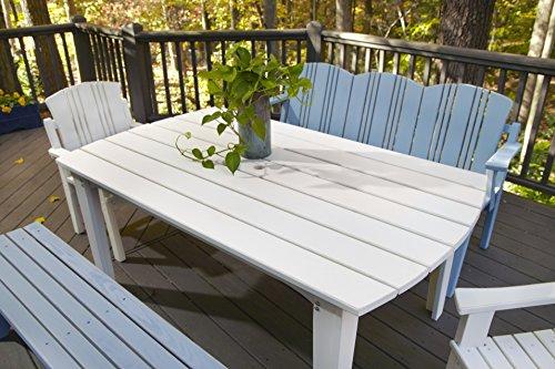 (Uwharrie Chair Co C093-31-Twilight Blue-Dist-Pine Carolina Preserves Dining Table, 85