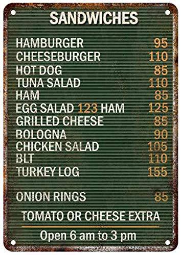 Amazon.com: Chico Creek Signs 1940\' Restaurant Diner Menu ...