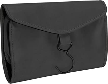 RYC264BLACK11 Royce Leather Hanging Toiletry Bag