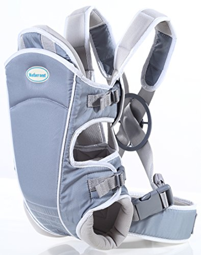 Mother Nest Baby Carrier Ergonomic for Infants to Toddlers(12-33 lbs) - Front & Back Positions - 100% Cotton Machine Washable - Safe Comfortable Nice Baby Shower Gift!