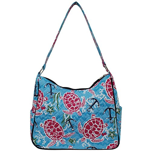 Me Cotton Hobo Navy and Quilted Blue Shoulder Bag Ngil Turtle E05nxFqwaO