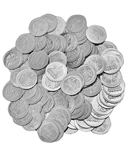 Two Sided Coins of Gajalakshmi with Lotus Flower on the Reverse (Set of 108 Coins) - .999 Silver (Lotus Coin)