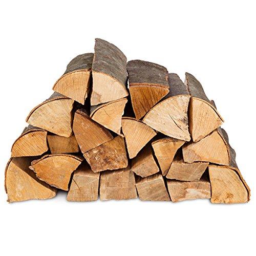 30kg Brennholz Kaminholz 100% Buchenholz Feuerholz 25cm - kammergetrocknet, ofenfertig und einsatzbereit + 20 Stück Anzünder