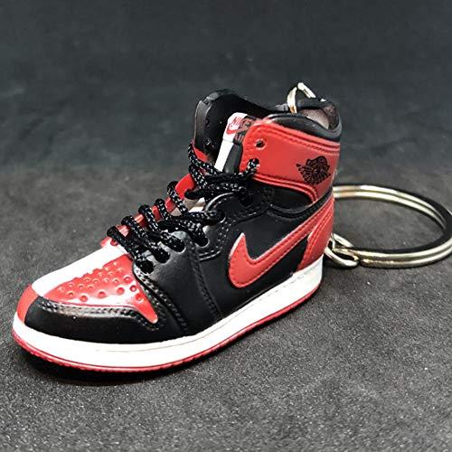 Air Jordan I 1 High Retro Homage To home OG NRG Sneakers Shoes 3D Keychain 1:6 Figure