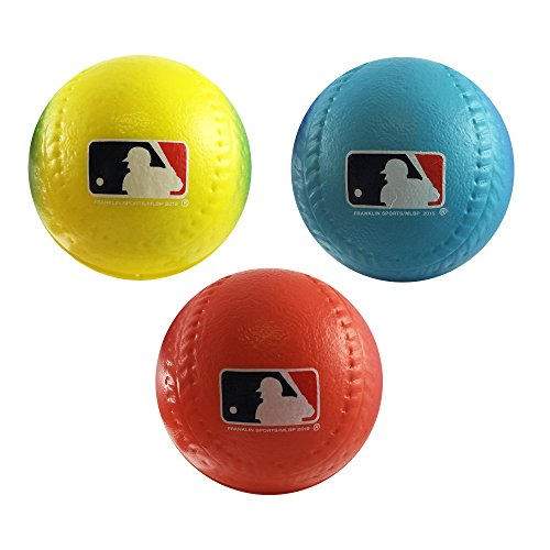 Franklin Sports Team MLB 3Pack Foam Baseballs - Gradient
