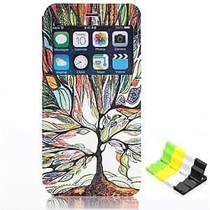GX Modelo del árbol feliz cuero de la PU caso de cuerpo completo tiene un perfume y el sostenedor del teléfono para el iphone 6 más