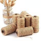 DIY Decor, Dingji Handmade Linen Cords Burlap Twine Rope String DIY Craft Decoration 100M