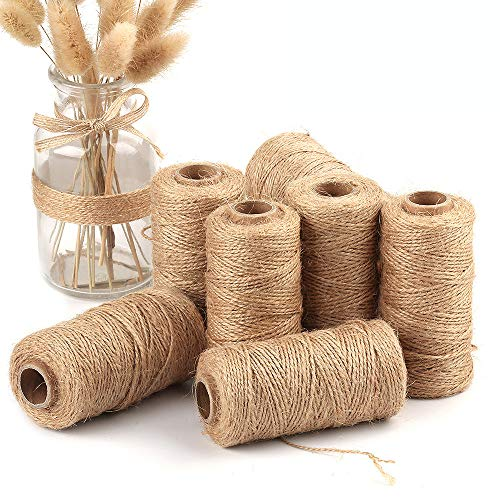 Iulove 100M Handmade Linen Cords Burlap Twine Rope String DIY Craft Decoration ()