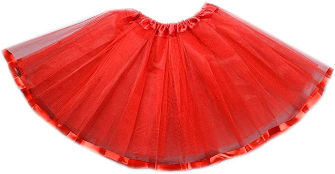 Ludzzi - Falda tutú de tres capas para niñas y niños, color liso ...