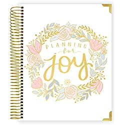 """bloom daily planners New Pregnancy and Baby's First Year Calendar Planner & Keepsake Journal - Hard Cover Scrapbook Memory Book Organizer - Undated - 8"""" x 10"""" - Planning for Joy"""