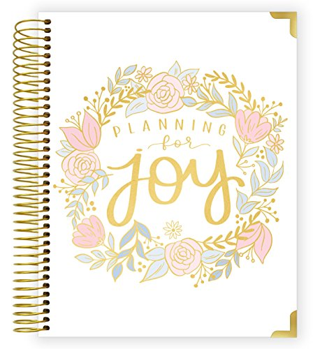 bloom daily planners New Pregnancy and Baby's First Year Calendar Planner & Keepsake Journal with Stickers - Hardcover Scrapbook Memory Book Organizer - Undated - 8' x 10' - Planning for Joy