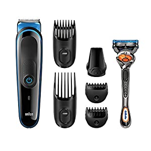 All-in-One Beard Trimmer for Men by Braun, MGK3045, 7-in-1 Precision Trimmer