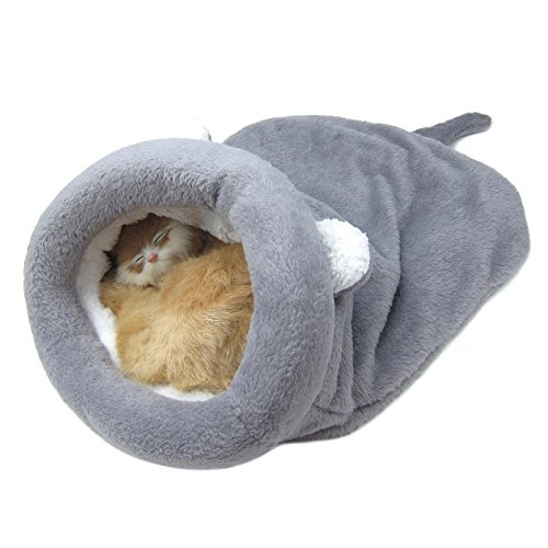 Alfie Pet by Petoga Couture - Dayton Cat Sleeping Cave Bed - Color Grey, Size: Medium