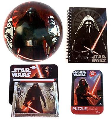 Star War Kids Gifts Bundle - Kylo Ren Wallet, Star Wars Journal, Ball & Puzzle