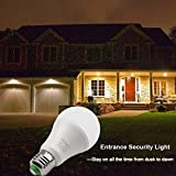 Dusk to Dawn LED Light Bulb, 40 Watt Equivalent 6000K Minger-Lighting Light Sensor Bulb, Sensor Light Security Bulb with Photosensor Detection E26/E27