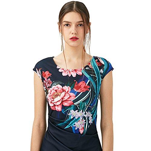 Kenancy -- Vestido para mujeres (Vintage, Impreso floral, Traje, Elegante, Delgado, Fiesta, Fecha, Cóctel)Azul, 5XL: Amazon.es: Ropa y accesorios