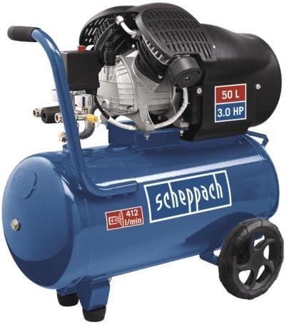 Bleu Scheppach 5906101901 Compresseur /à deux Cylindres HC52DC 50 L 50 Hz 8 Bar
