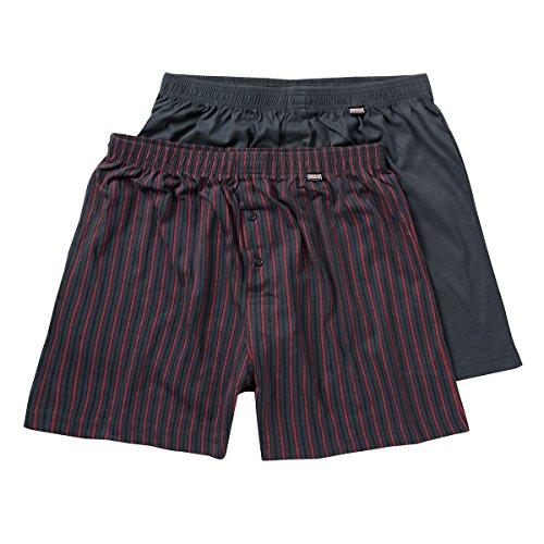 gris dos de Adamo de Fashion Shorts paquete Xxl azul boxeador XwH6XzxP