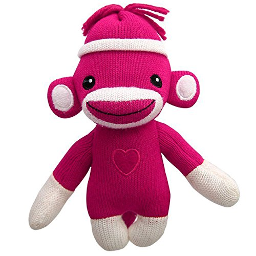 Baby Doll A-line - Sockiez Sock Monkey Baby Doll, With White Line Hat, Heart Logo in Front, A Best Mother's Day Gift- Expressing in Color of Love (Pink (You Are Cute))
