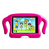 MOCREO® iPad mini /mini 2/ mini 3 Funcase Kido Series Safety EVA Light Weight Shock Proof Super Protection Kids Convertible Freestanding Handle Tablet Case Cover Merry Christmas Gifts for Kids Kiddie Funny Cases for Apple iPad mini /mini 2/ mini 3(Pink)