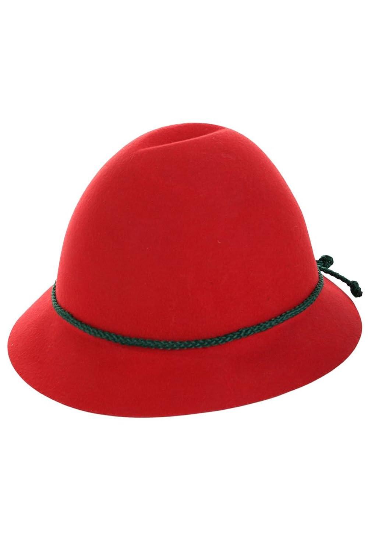 Unisex - Kinder Stützle Trachten Kinderhut rot, rot,