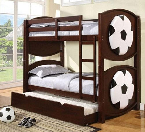 ACME 11954A All Star Soccer Twin/Twin Bunk Bed, Espresso Finish by ACME