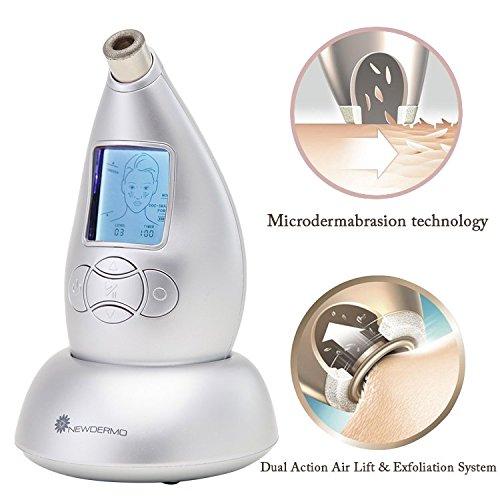 NEWDERMO Macchina per microdermabrasione con punta di diamante, sistema V Line, per rimuovere rughe, cicatrici, acne e segni, per la cura della pelle