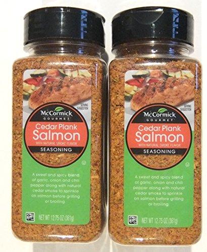 Cedar Plank Salmon - McCormick Gourmet Cedar Plank Salmon Seafood Seasoning 12.75 ounce (Pack of 2)
