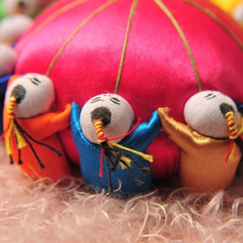 TECH-P Creative Life 4 Oriental Tang Dynasty Needle Pin Cushion with toy Kids-Red