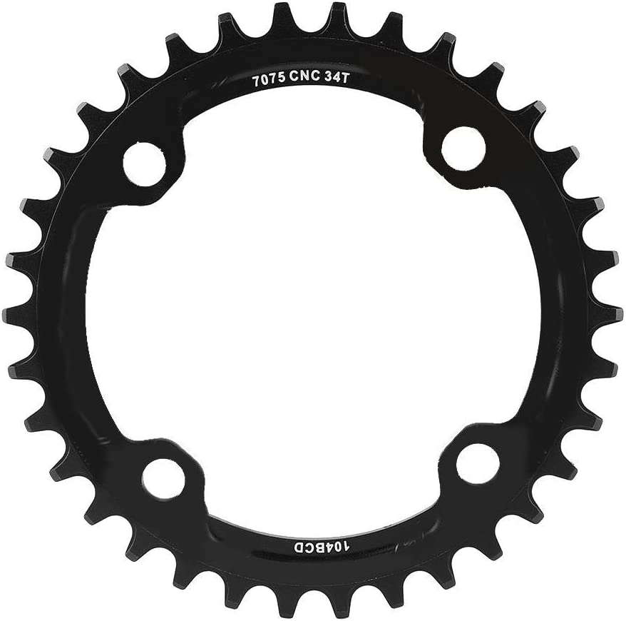 Vbestlife Narrow Wide Chainring 104BCD 32/34/36/38T Single Chainring, Mountain Bike Bicycle Single Speed Crank Chain Ring Repair Parts for Road Bike, Mountain Bike, BMX MTB Bike