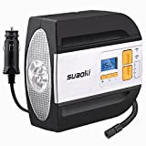 auto air cushion - Suaoki 12V DC Tire Inflator Electric Portable Auto Air Compressor Pump to 100PSI for Car,Truck, Bicycle, Basketball