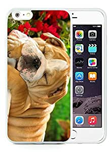 Hot Sell iPhone 6 Plus Case,Christmas Dog White iPhone 6 Plus 5.5 TPU Case 32