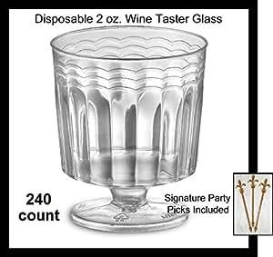 240 Count Clear Plastic 2 Oz Small Wine
