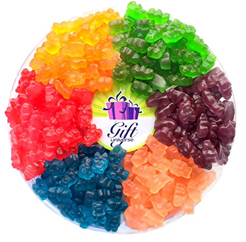 Gift Universe Gummi Bears Candy Gift Tray with Albanese's Best Seller Fruit Flavored Gummi Bear 6 Section Variety Pack of - List Candy Sour Of