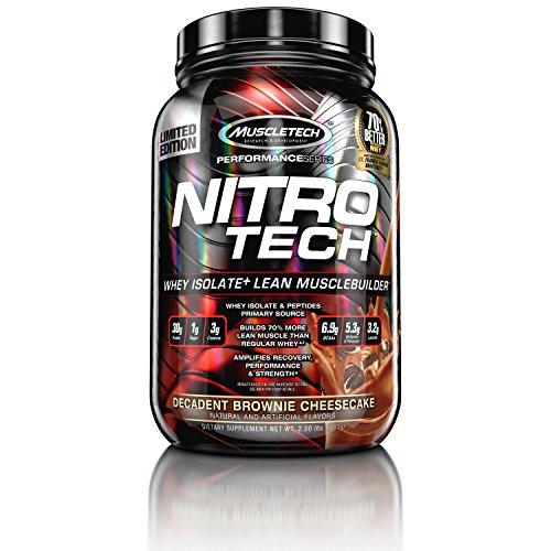 MuscleTech Performance Series Nitro Tech Supplement, Vanilla, 1 Pound