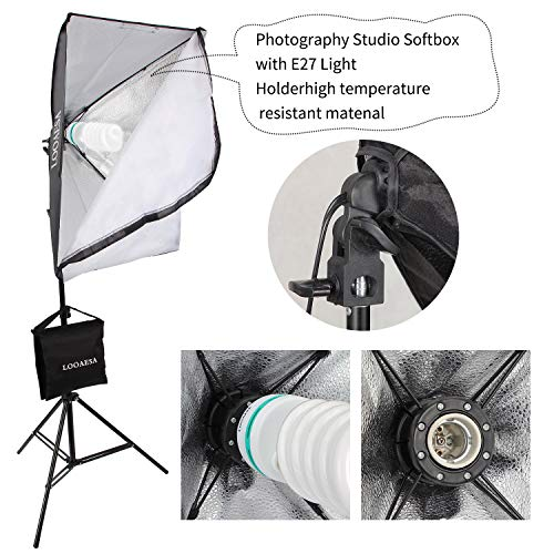 1350W Photography Lighting Softbox Lighting Kit Continuous Photo Video Lighting System with Sandbag and 5500K Bulb 20''X28'' Professional Studio Lights Equipment for Youtube Filming Portraits by LOOAESA by LOOAESA (Image #7)