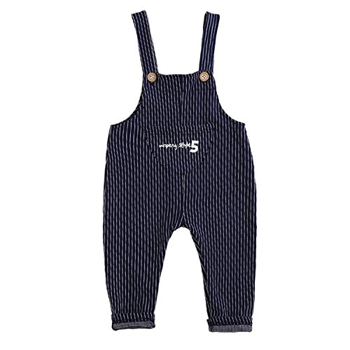 Hoared Baby Girl Overalls New Spring Casual Striped Overalls Kids Trousers Toddler Jeans Pants Blue -