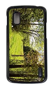Google Nexus 4 Case,MOKSHOP Adorable summer forest meadow Hard Case Protective Shell Cell Phone Cover For Google Nexus 4 - PC Black