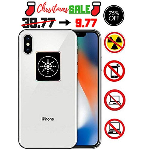 EMF Radiation Protection for CELLPHONES/Laptop - Anti EMF/EMR Radiation Sticker - Radiation Neutralizer Shield Blocker - Remove Electronic Technologies WI-FI, Bluetooth - Electromagnetic Radiation Shield