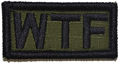 WTF (What the F 1x2 Morale Patch - Multiple Color Options (Olive Drab/OD)