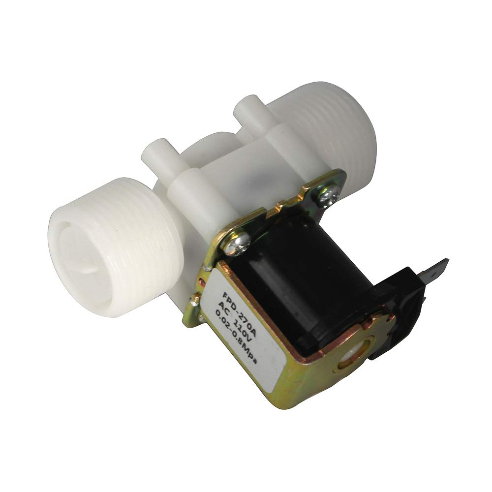 - Plastic Two Parallel Fankerba 3//4 Inlet Water Solenoid Valve, AC 110V Normally Closed 0.02 to 0.8mpa Screw Thread