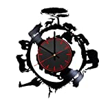 Taniastore African Animals Design Vinyl Record Wall Clock Unique gifts for him her Gift Ideas for Mothers Day Father birthday anniversary wedding cute and original gifts for everybody