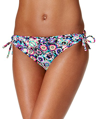 California Waves Women's Rio Kaleidoscope Side-Tie Hipster Bikini Bottom, Multi, Small