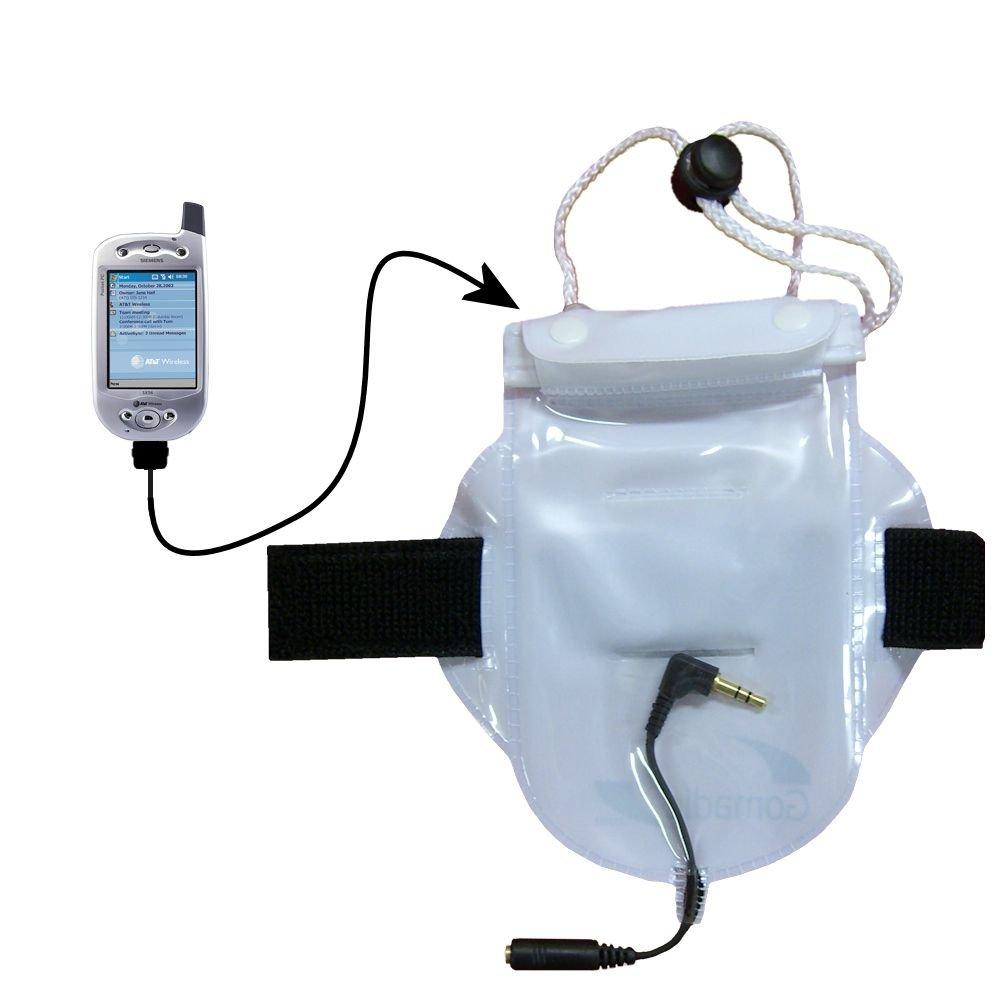 水ホコリ、砂防止バッグワークアウトアクセサリーHeaphoneパススルーfor use with the Siemens sx56ポケットPC電話   B000F7P18O