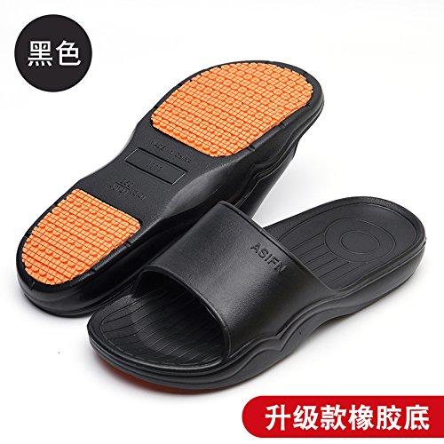 raffreddare pantofole estate uomini DogHaccd soft Home pantofole spessore Nero1 indoor slittamento pantofole bagno anti pantofole bagno piano coppie donne per di casa nXqx8U