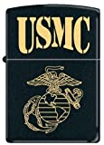 US Marine USMC EGA Black Matte Zippo Lighter