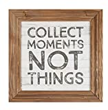 P. GRAHAM DUNN Collect Moments Not Things Brown 11 x 11 Wood Framed Wall Sign Plaque Review