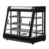 SUNCOO 26'' Commercial Countertop Food Warmer Display Case for Restaurant Heated Cabinet Pizza Empanda Pastry Patty